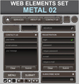 metal web elements set vector image vector image
