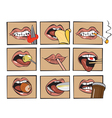 mouth eats vector image vector image