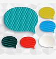 multicolored speech bubbles vector image