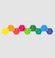 nine pieces puzzle jigsaw hexagonal info graphic vector image vector image