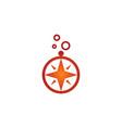 north star compass logo vector image