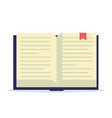 open book with bookmark flat vector image