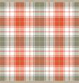 orange and grey tartan plaid seamless pattern vector image vector image