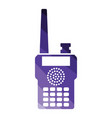 portable radio icon vector image