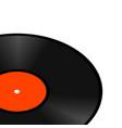realistic perspective retro vinyl gramophone vector image