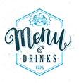 Restaurant Menu Template Hand Drawn Calligraphy vector image vector image