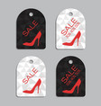 sale stickers set for women shoes vector image