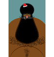 Santa Claus american african naked Naked old vector image