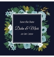 Save the date flower decoration card vector image