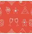 seamless pattern christmas vector image vector image