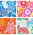 seamless pattern with turtles vector image vector image