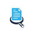 search document logo icon design vector image