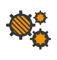 set gear construction engine work vector image
