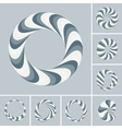 Set of abstract 3d icons such emblems vector image vector image