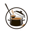 set of pan soup and ladle vector image vector image