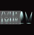 set realistic lightning spotlights vector image vector image
