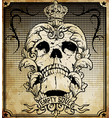 skull frame set easy to edit all fonts are free vector image
