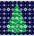 Snow Christmas tree background vector image vector image