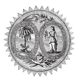 South Carolina Seal engraving vector image vector image