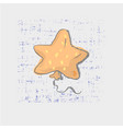 star shaped balloon on grunge background cute vector image vector image