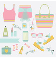 summer women fashion icon set vector image