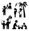 Summertime pictograms flat people icons isolated vector image vector image