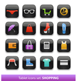 Tablet buttons collection vector image vector image