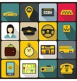 Taxi Icons set flat style vector image vector image