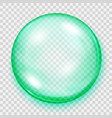 transparent turquoise sphere with shadow vector image vector image