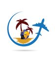travel tropic color vector image vector image