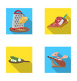 treat appliance tool and other web icon in flat vector image vector image