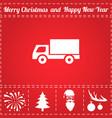 truck icon vector image vector image