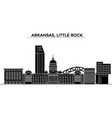 usa arkansas little rock architecture vector image vector image