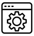 web setting vector image vector image