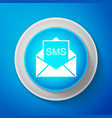 white envelope icon received message concept vector image