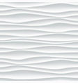 white wave pattern abstract 3d background vector image vector image