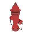 hydrant fire water icon safety emergency vector image