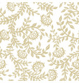 seamless lace flowers on beige vector image