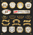 a collection various golden badge and labels vector image vector image
