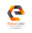 Abstract letter E logo design template Colorful vector image vector image