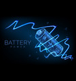 abstract low poly battery charge from electric vector image vector image
