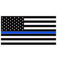 american police flag thin blue line