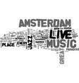 amsterdam hotels text word cloud concept vector image vector image
