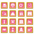 april fools day icons pink vector image vector image