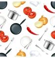 Background Kitchen seamless vector image vector image