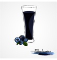 blueberry juice vector image