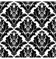 Bold black and white arabesque pattern design vector image vector image