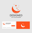 business logo template for moon night star vector image