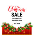 buy now christmas sale template vector image