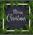 calligraphic text merry christmas inscription vector image